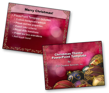 christmas themed template the powerpoint blog