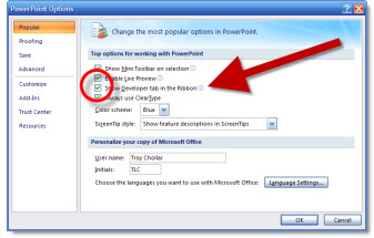 how to put a movie in powerpoint 2007