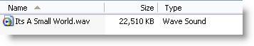 Original .wav is 22MB!