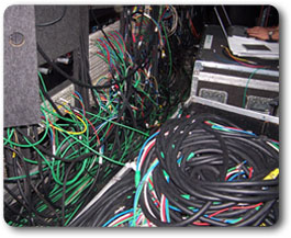 "Cables for just one section of ""video village"""