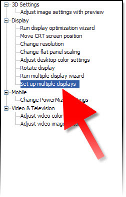 Use Nvidia Control Panel to Set Mirrored or Extended Desktop