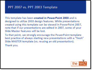 Template note on ppt 03 vs 07 the powerpoint blog this template has been created in powerpoint 2003 and is designed to utilize 2003 design features while presentations created using this template can be toneelgroepblik Choice Image