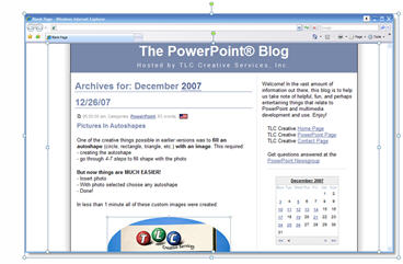 make a fake website the powerpoint blog