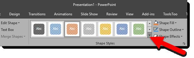 New Shape Styles Presets 1