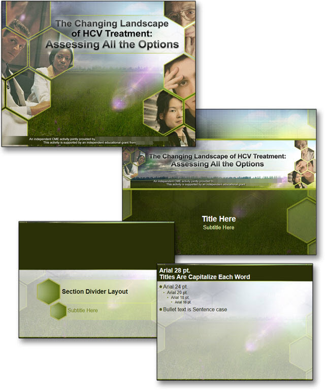PowerPoint Template for HCV Research