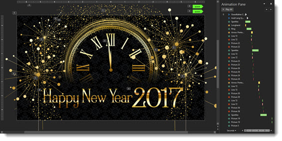 New Year PowerPoint Animation