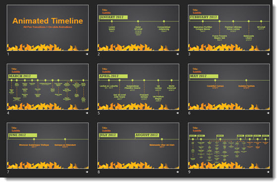 Animated Timelines Using Pan and Wipe