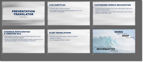 Presentation Translator 9